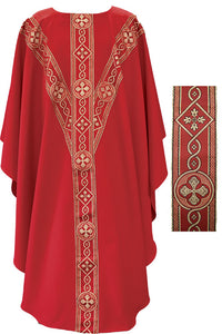 Beau Veste Chasuble with Italian Banding, Style: 2144R