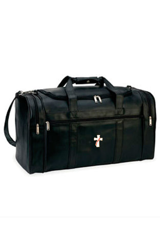 Simulated Leather Deluxe Travel Bag, Style 8204