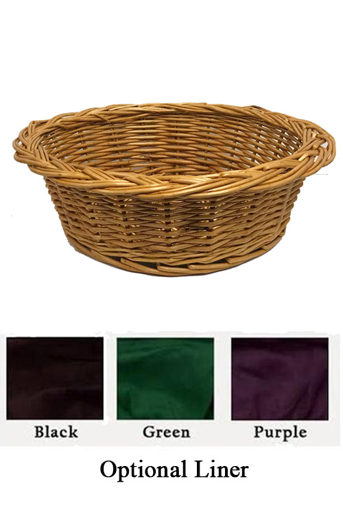 Round Collection Basket with Velvet Liner (Style: 454)