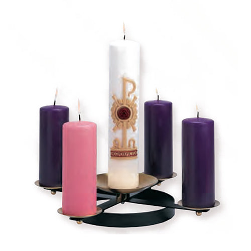 Advent Wreath - Wrought Iron with Spikes (Style K178)