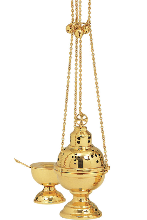 Eastern Rite Censer and Boat (Style K501)