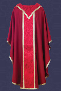 Chasuble with Yoke and Pillar Orphrey (Style: TR19-R)
