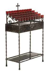 50 Light Wrought Iron Votive Stand, Style 19X50