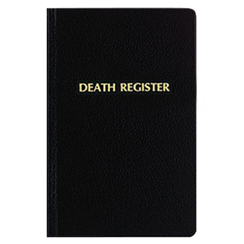 Death Register by F.J. Remey (Style: 192)