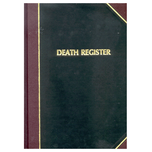 Death Register by F.J. Remey (Style: 193)