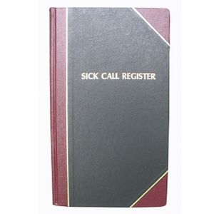 Sick Calls Register by F.J. Remey (Style: 188)