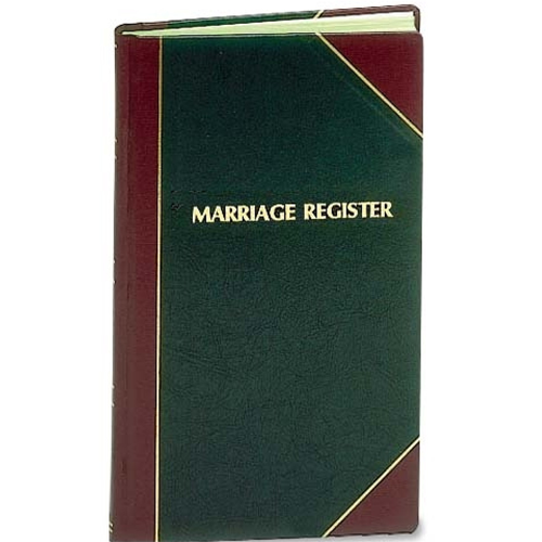 Marriage Register by F.J. Remey (Style: 101)