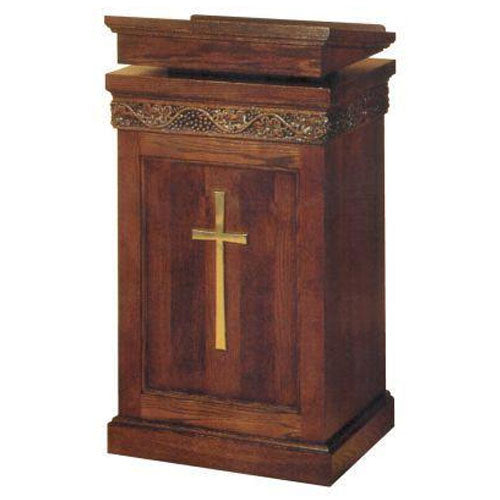 Wooden Lectern with one inside shelf (Style 1420)