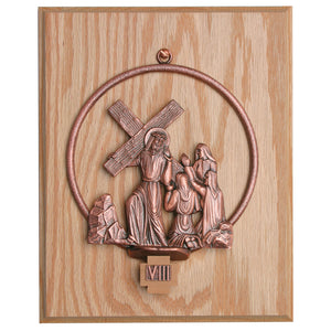 Stations of the Cross Mounted on Oak Panel (Style K781)