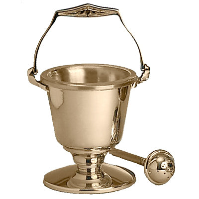 Holy Water Pot & Sprinkler: Bronze Finish (Series 216-29)