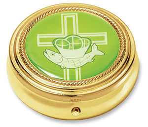 Cross with Loaves and Fish Pyx - 3 Pack (Series RS133)