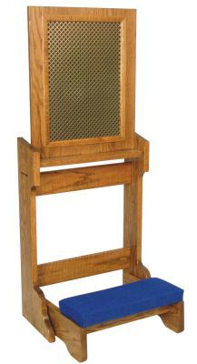 Confessional Prie Dieu Kneeler - Folding (Style 2455)