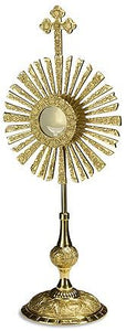 Budded Cross Monstrance with Removable Luna (Series TS433)
