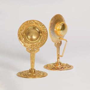 Gold Plated Reliquary with Carrying Handle (Style K685)