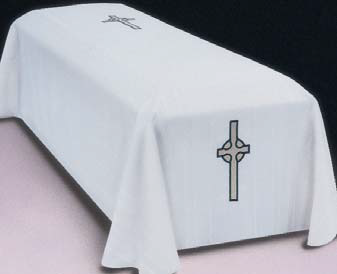 Funeral Pall with Gold-Metallic Celtic Cross (Style 912F)