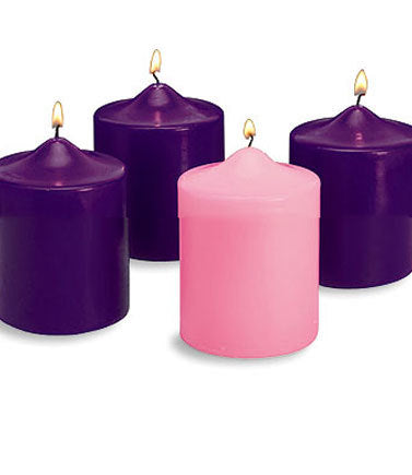 "Advent Candle Set: 6"" (Style: 48077)"