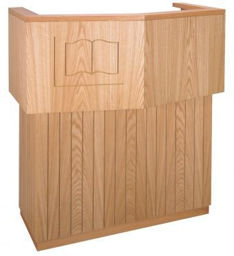 Wooden Pulpit no Bible Symbol (Style 3751)