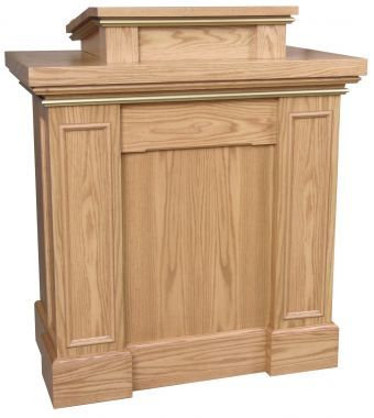 Wooden Pulpit with Rectangular Trim (Style 620)