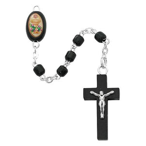 Black Wood Communion Rosary (Style: P247R)
