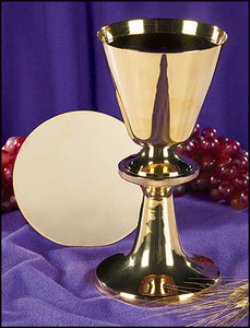 Engraved Node Chalice and Paten Set (Series PS625)