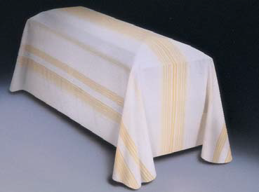 Funeral Pall with Gold-Striped Design (Style 953F)