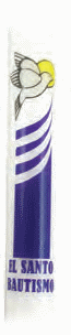 Dadant Brand: Baptismal Candles 50 per case (Style 90101S)