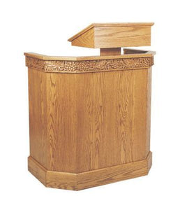 Wooden Pulpit with Adjustable Book Rest (Style 368)
