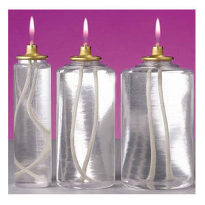 Clear Disposable Container for Nylon Candle Shell: 25 Hours, 12 per Case