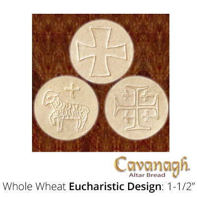 "Whole Wheat Altar Bread: 1-1/2"" Dia. (Eucharstic Design)"