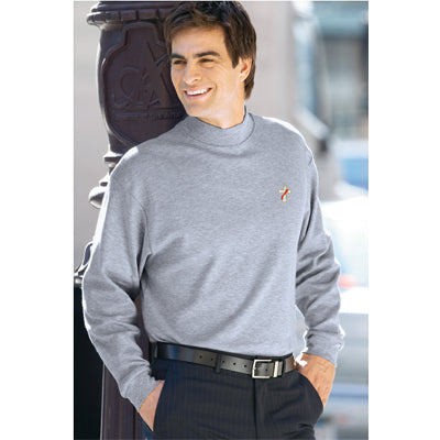 Beau Veste Egyptian Interlock Long-Sleeve Mock Turtleneck (Style 8510-8513)