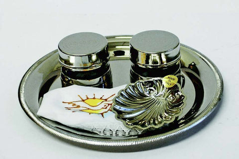 Nickle Plated Baptismal Set (Style 3813)