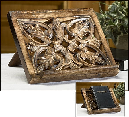 Ornate Wood Carved Bible/Missal Stand