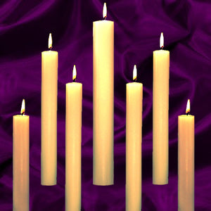"Dadant & Sons: Altar Candles 1-1/4"" x 25"" 51% Beeswax"