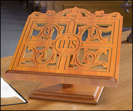 IHS Carved Bible Stand (Series TS864)