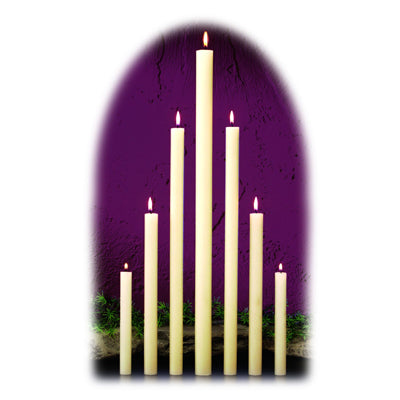 Dadant & Sons: Altar Candles 51% Beeswax Small Diameter Candles