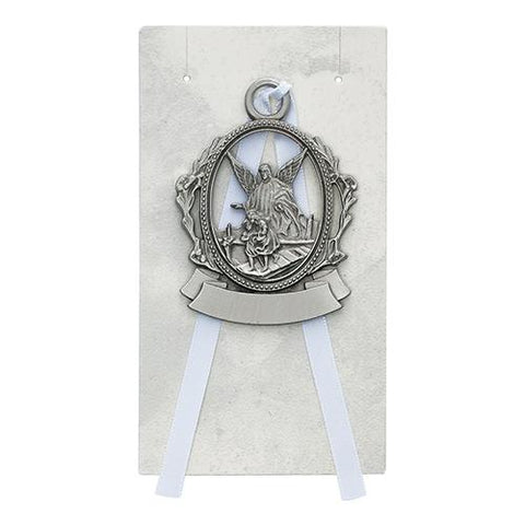 Engravable Pewter Crib Medal (Style: PW15-W)