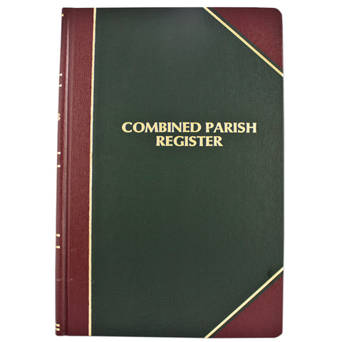 Combined Parish Register Book by F.J. Remey (Style: 12)