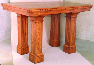 "Wooden Communion Altar, 72"" x 40"" wide (Style 656)"
