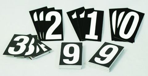 Hymn Board Numerals (Style 9103)
