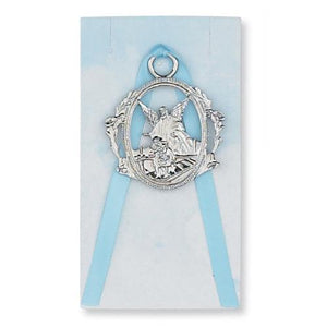 Guardian Angel Crib Medal Blue (Style: PW6-B)