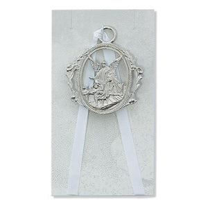 Guardian Angel Crib Medal White (Style: PW6-W)
