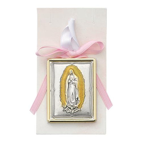 Pink Guadalupe Crib Medal (Style: PW23)