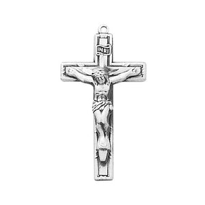 "Sterling Silver Crucifix 18"" Chain and Box (Style: LBCKO)"