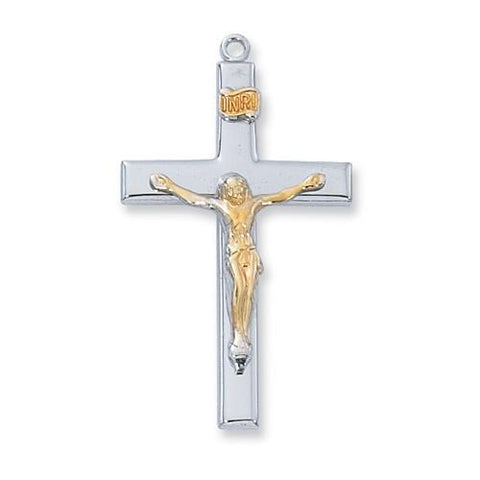 "Sterling Silver Crucifix 18"" Chain and Box (Style: L9119)"