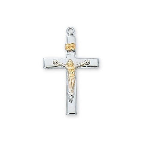 Sterling Silver Crucifix W/16Chain andBox (Style: L9103)
