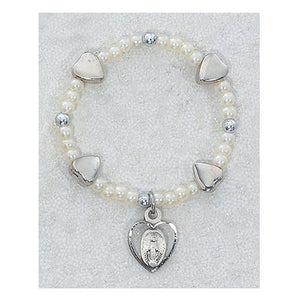 Sterling Silver Baby Heart Stretch Bracelet (Style: SB8MH)