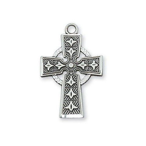 Sterling Silver Celtic Cross Silver No Chain (Style: L8083/T)