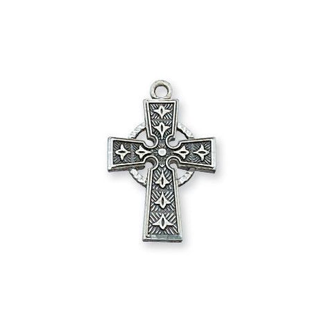 Sterling Silver Celtic Cross Silver No Chain (Style: L9045/T)