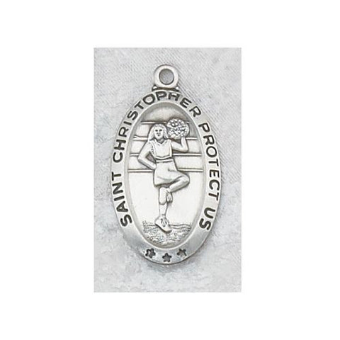 Sterling Silver Cheerleader Medium Chain and Box (Style: L560CL)