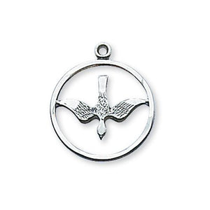 Sterling Silver Holy Spirit 18Silver Chain and Box (Style: L369)